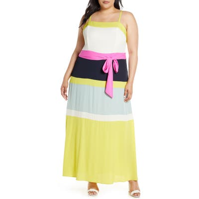 Plus Size Rachel Rachel Roy Laurel Maxi Dress, Yellow