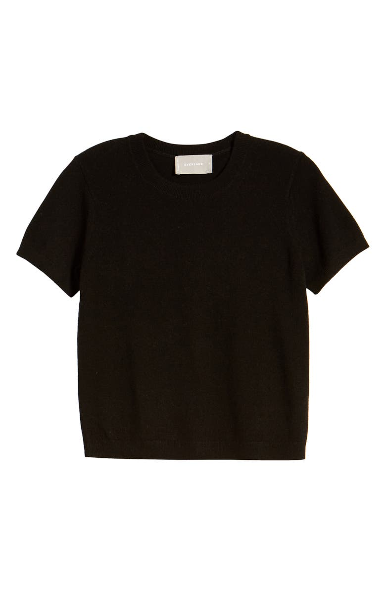 EVERLANE The Cashmere Tee, Main, color, 001