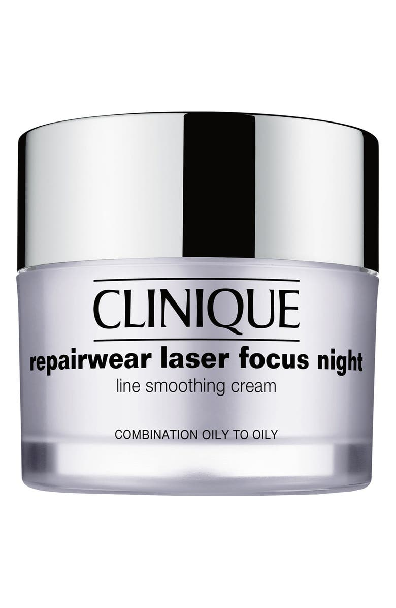 CLINIQUE Repairwear Laser Focus Night Line Smoothing Cream for Combination Oily to Oily Skin, Main, color, COMBINATION OILY TO OILY