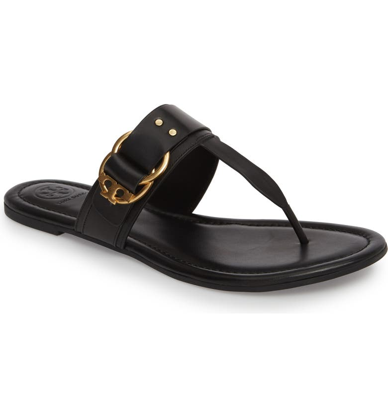 TORY BURCH Marsden Flat Thong Sandal, Main, color, 001