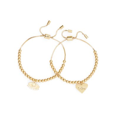 Madewell Eye Heart You Friendship Bracelet Set