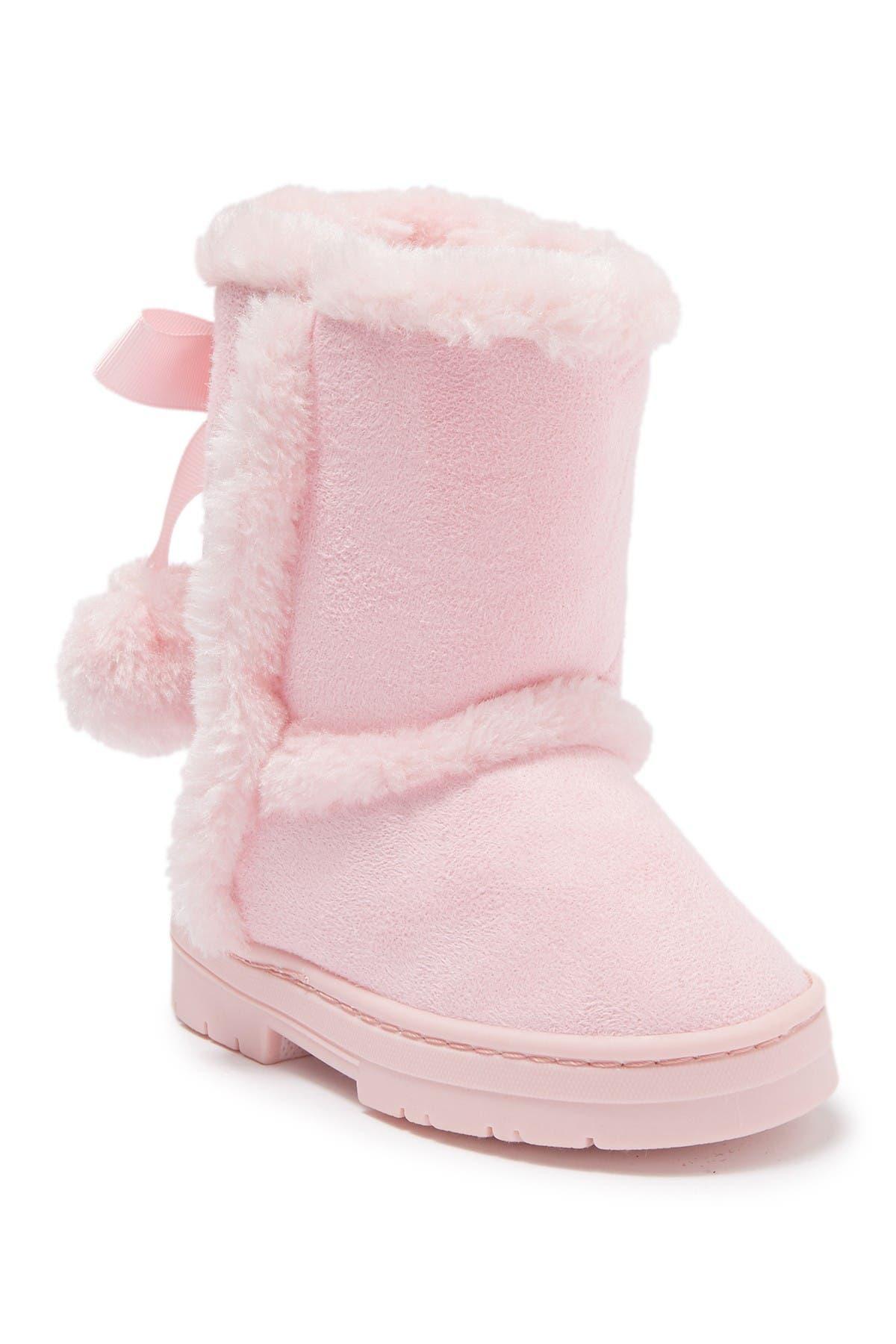 Image of bebe Microsuede Faux Fur Trimmed Winter Boot