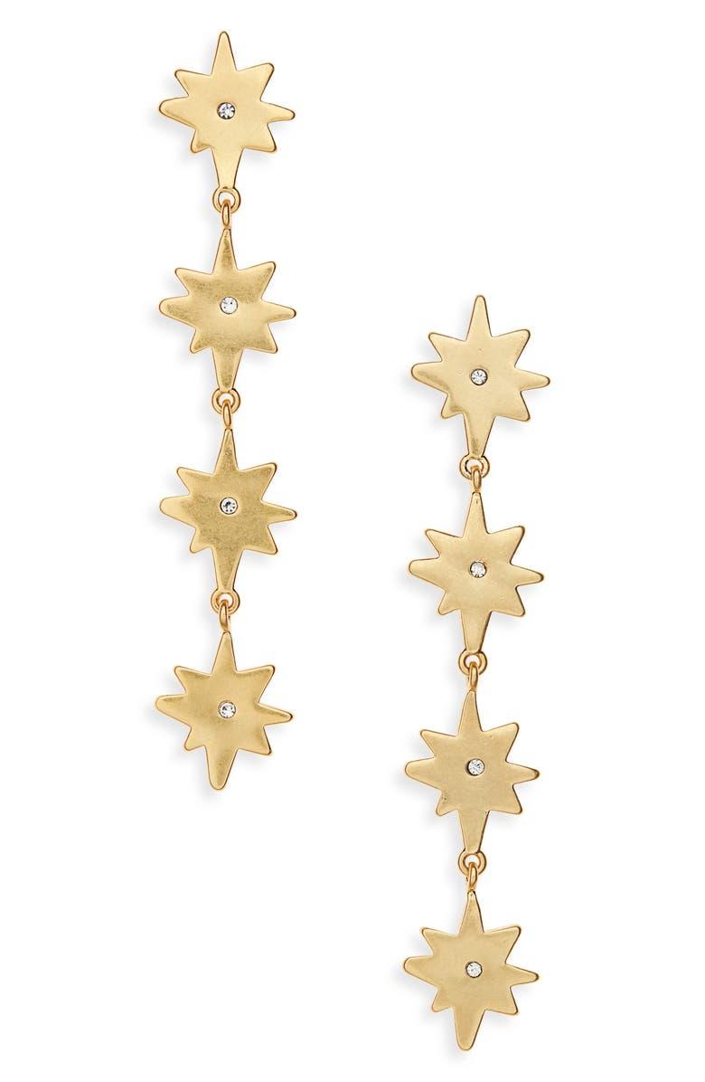 MADEWELL Starshine Drop Earrings, Main, color, VTG GOLD