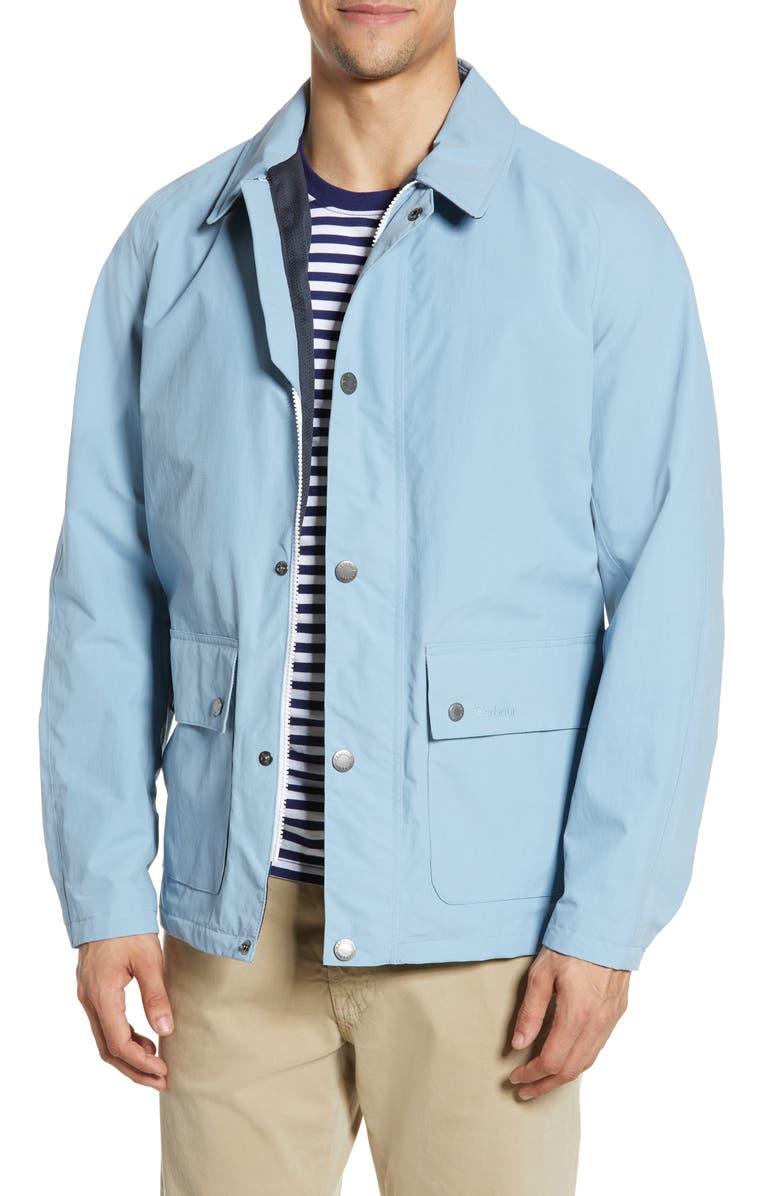BARBOUR Storrs Waterproof Jacket, Main, color, FADE BLUE