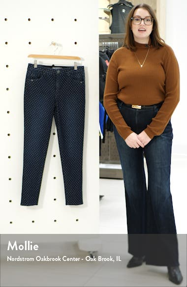 Ab-Solution Dot High Waist Ankle Skinny Jeans, sales video thumbnail