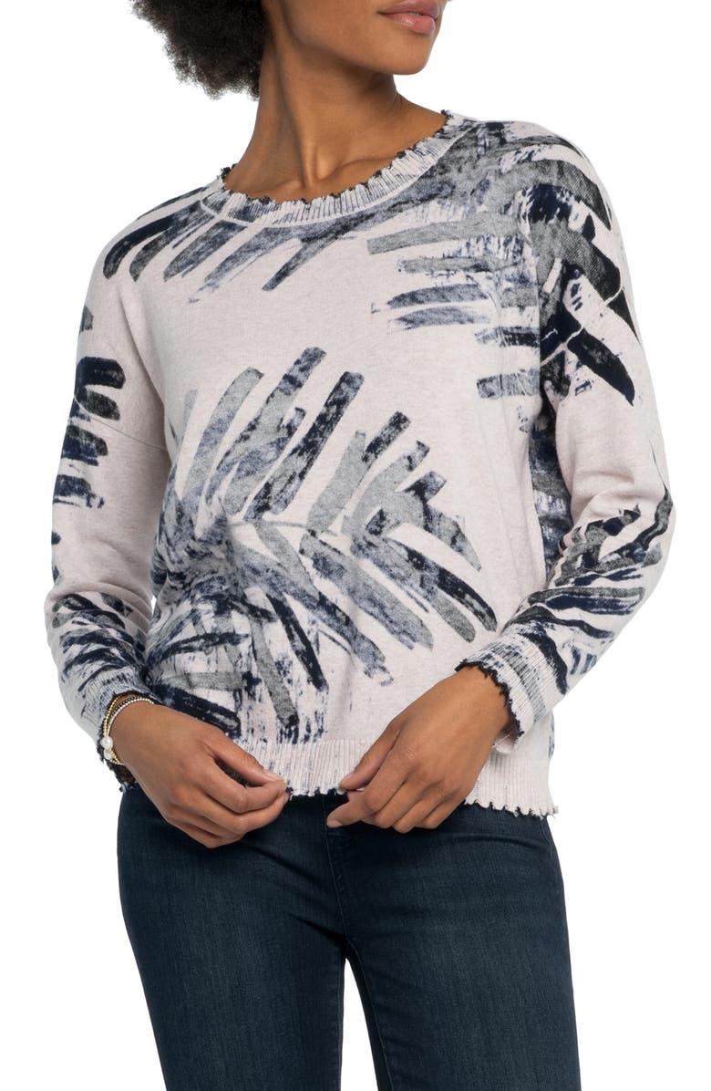 NIC+ZOE Juniper Sweater, Main, color, INDIGO MULTI