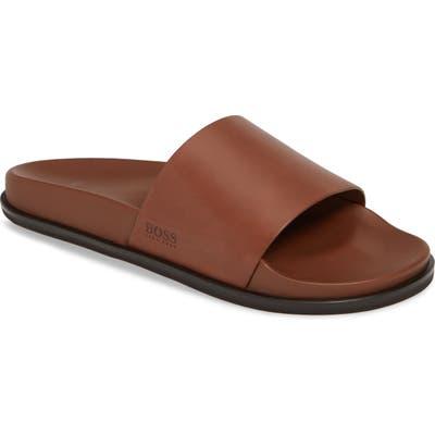 Boss Cliff Slide Sandal, /12- Brown