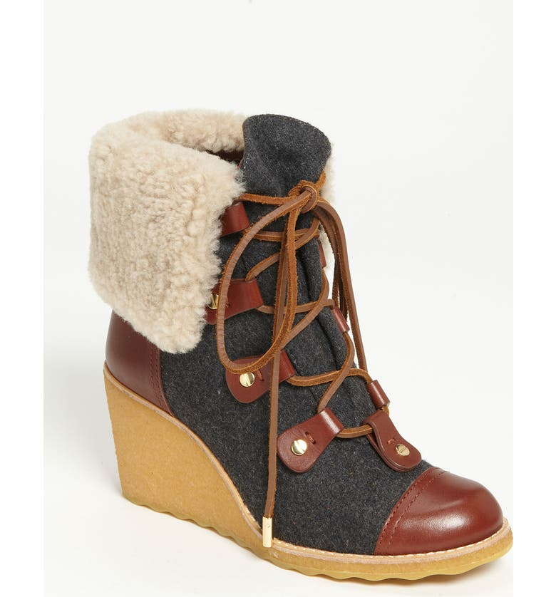 TORY BURCH 'Marley' Wedge Bootie, Main, color, 058