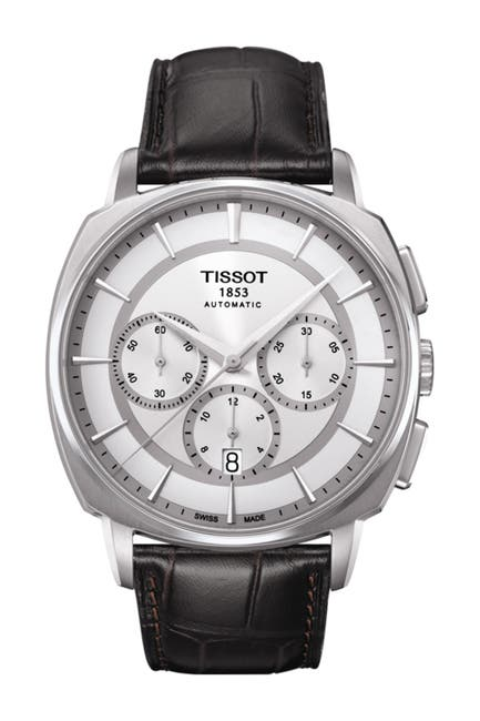 Image of Tissot Men's T-Lord Automatic Embossed Leather Strap Watch, 42.2mm