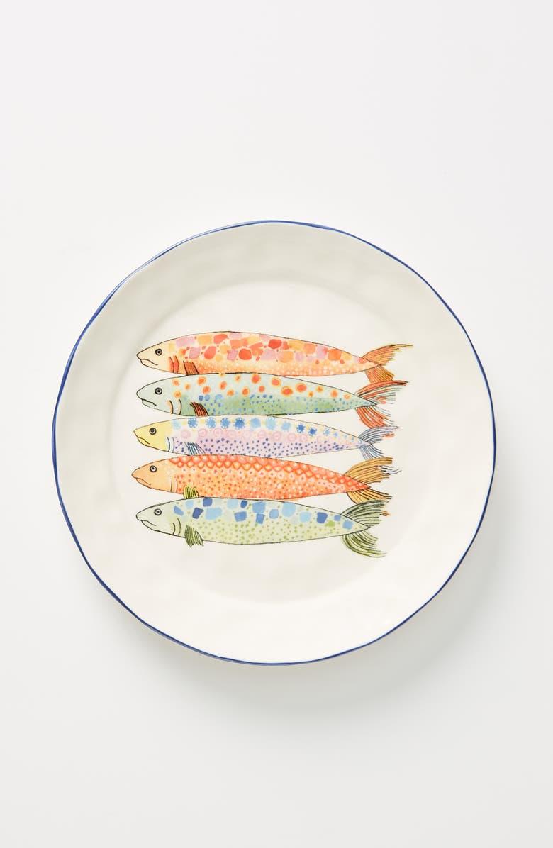 ANTHROPOLOGIE Sardina Set of 4 Side Plates, Main, color, 100