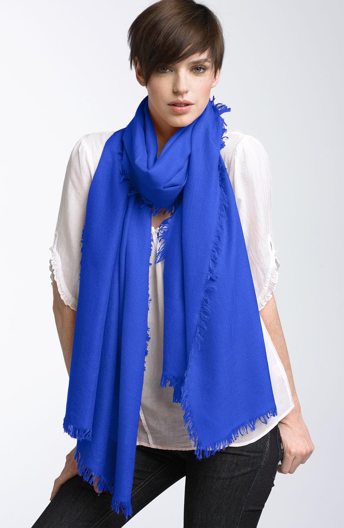,                             'Eyelash' Colorblock Cashmere Wrap,                             Main thumbnail 36, color,                             401