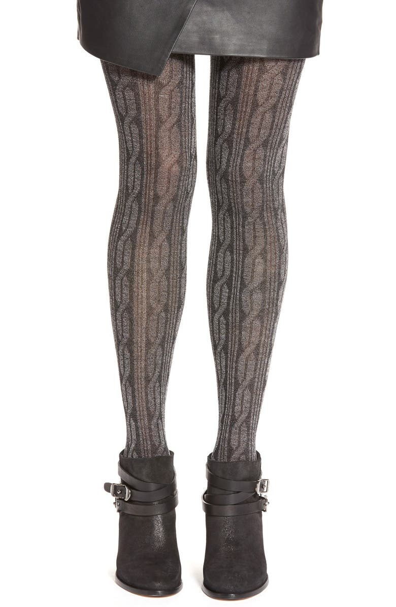 deb65a6ac828e 'Cable Knit Sweater' Print Tights, Main, color, ...