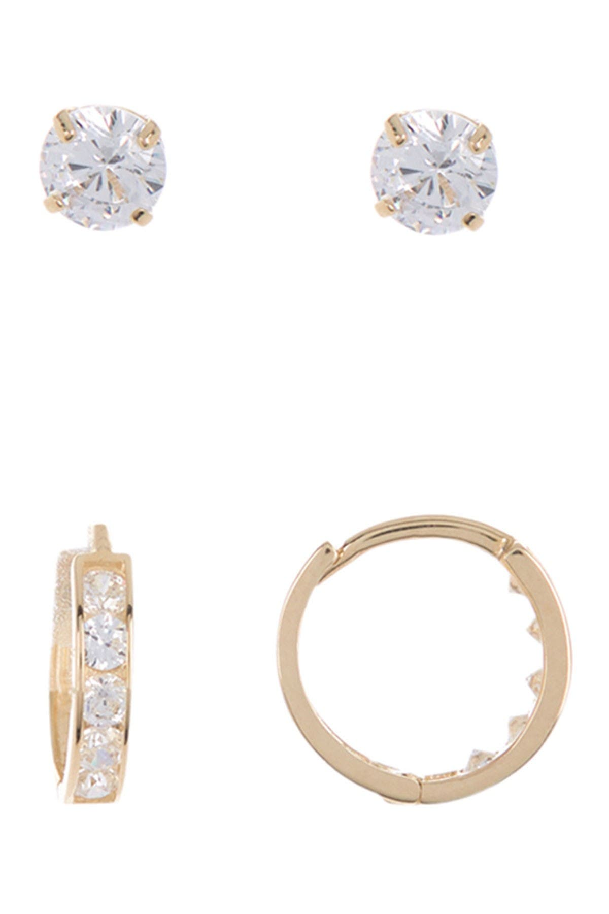 Image of Candela 14K Gold Hoop & Stud Earrings Set