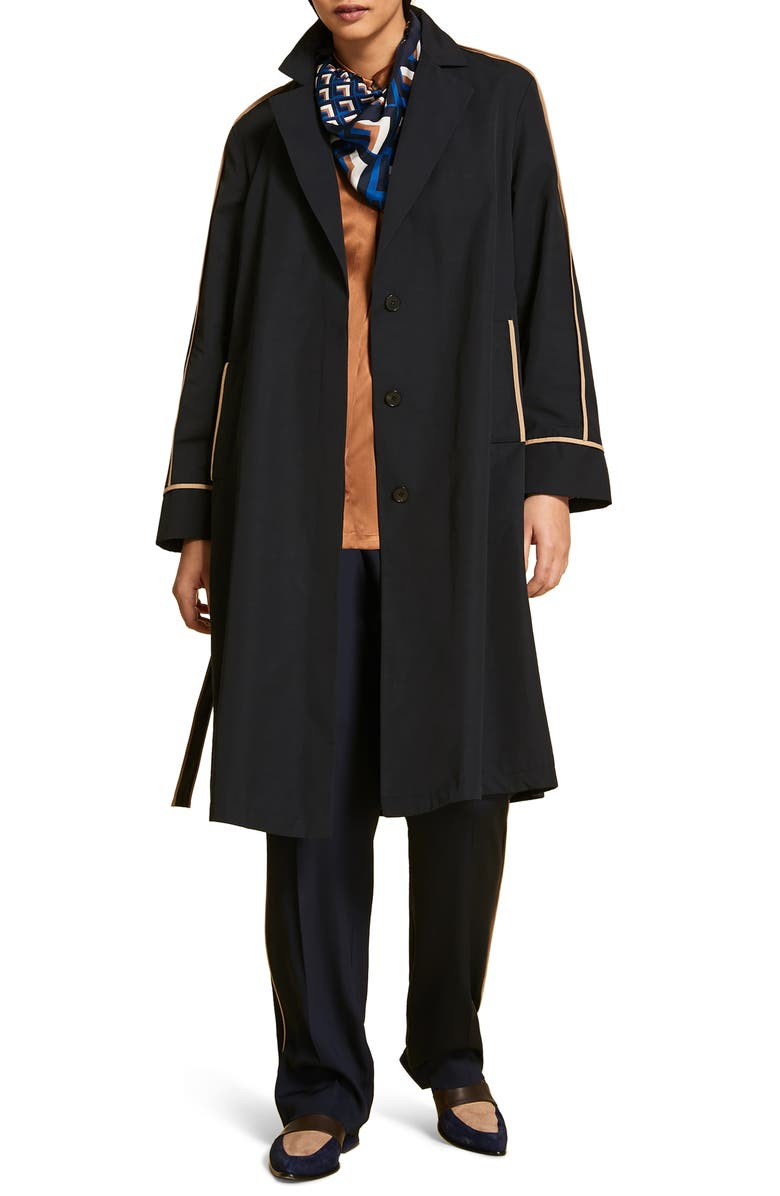 MARINA RINALDI Targa Raincoat, Main, color, NAVY