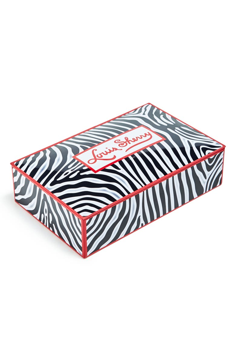 LOUIS SHERRY Miles Redd Zebra 12-Piece Chocolate Truffle Tin, Main, color, ZEBRA STRIPES