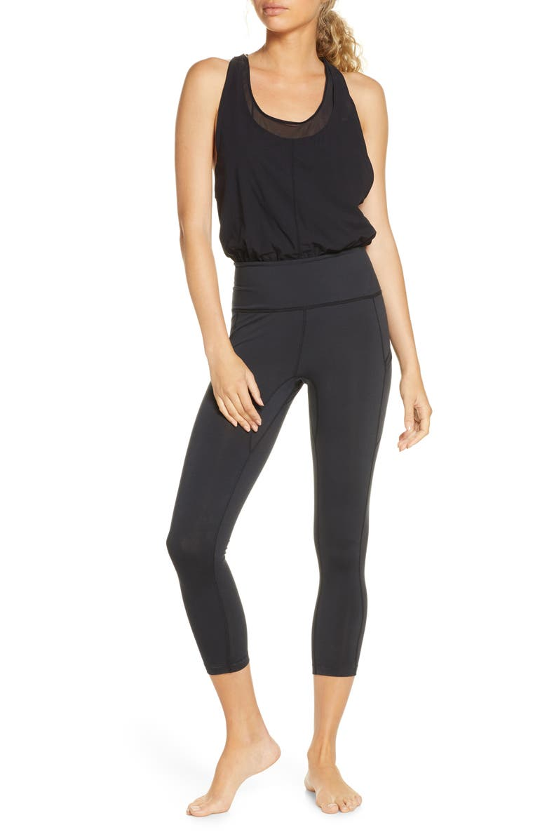 FREE PEOPLE FP MOVEMENT Eyes on the Prize Jumpsuit, Main, color, BLACK