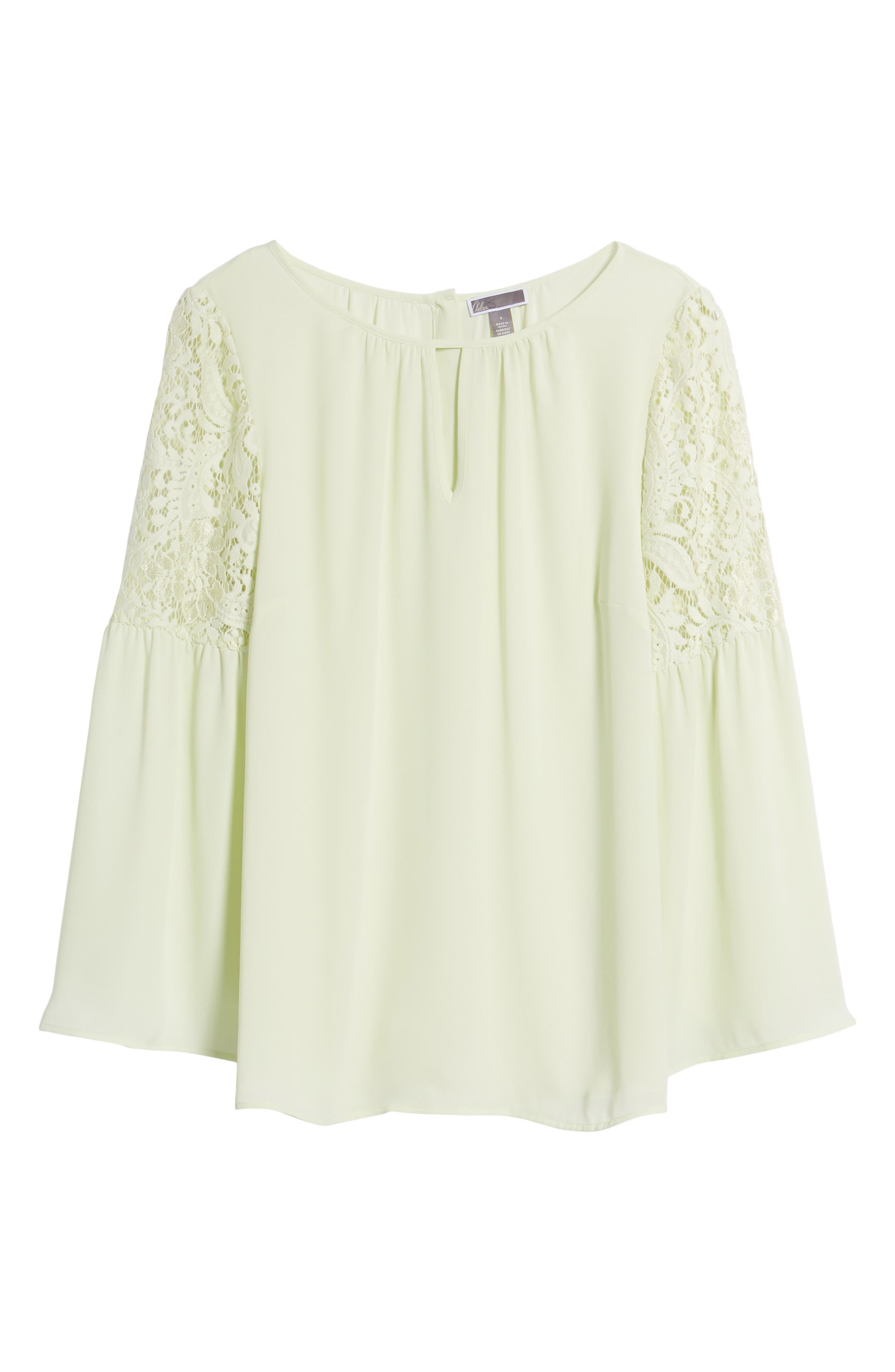 ,                             Lace Bell Sleeve Top,                             Alternate thumbnail 19, color,                             330