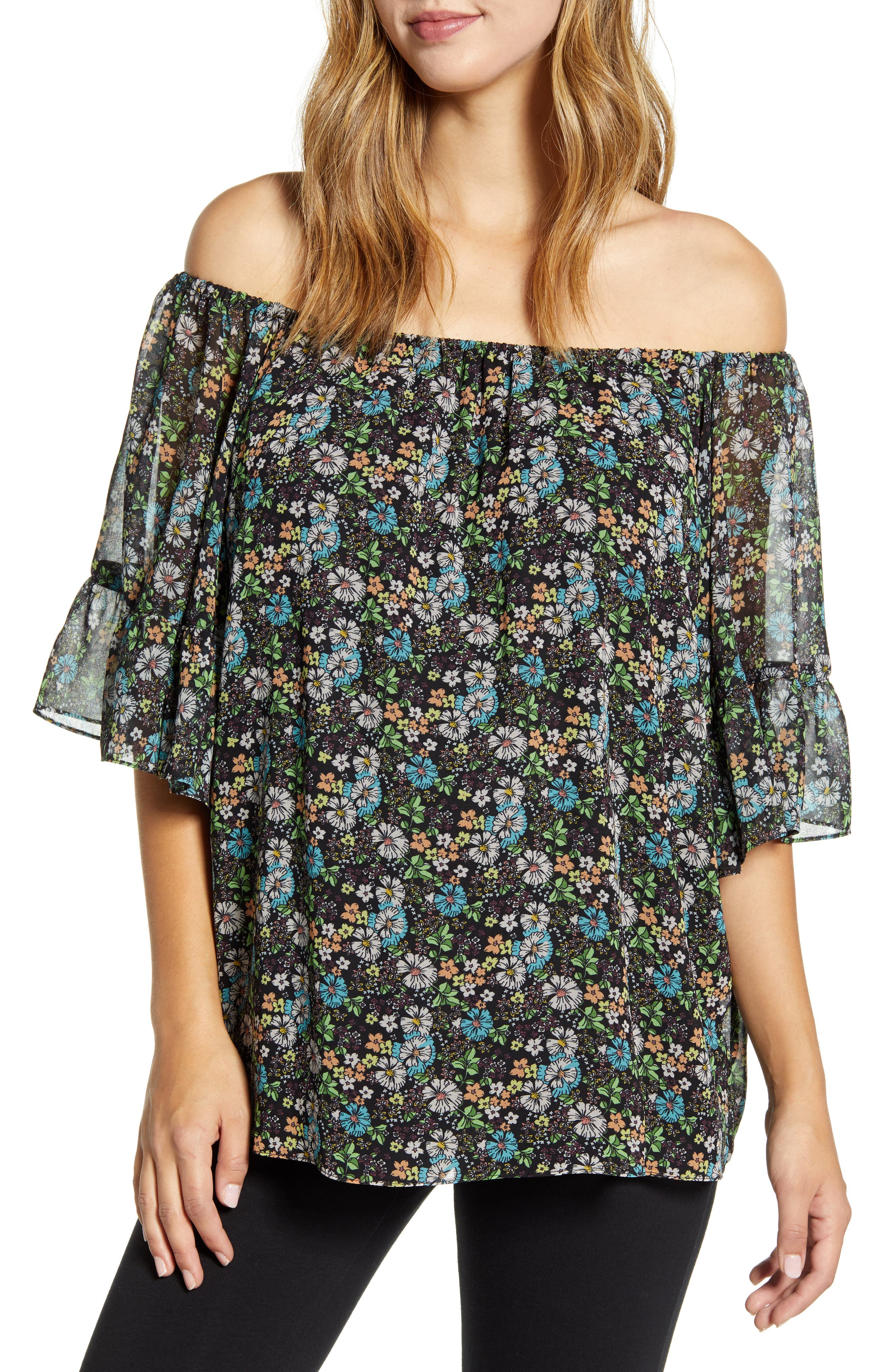 Off The Shoulder Maternity Blouse