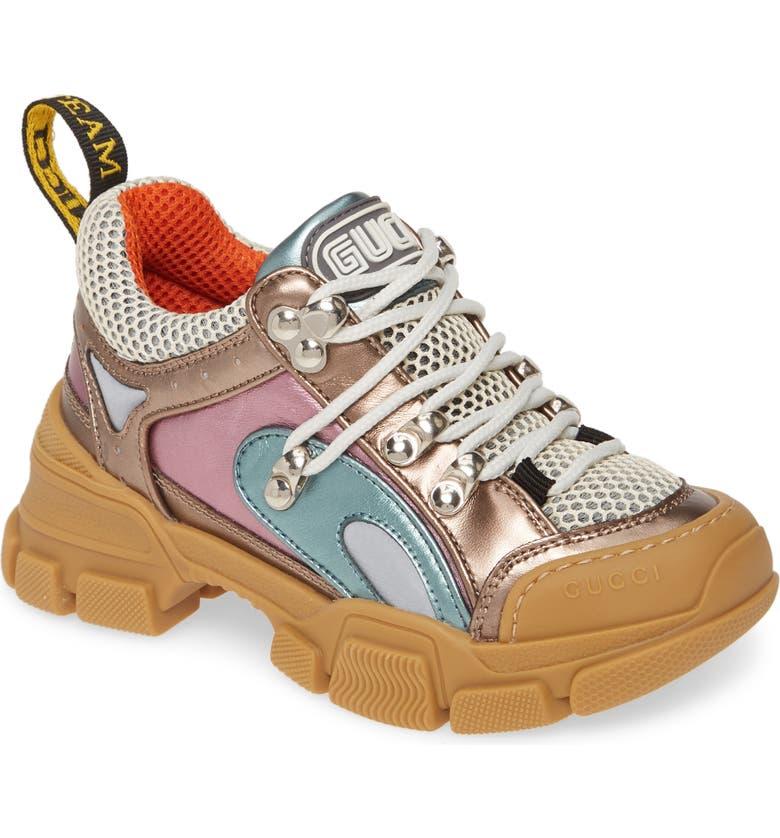 GUCCI Flashtrek Sneaker, Main, color, SILVER