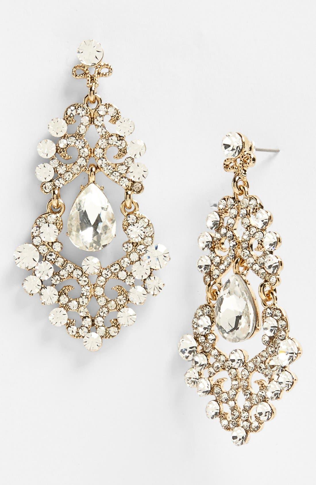 ,                             Ornate Chandelier Earrings,                             Main thumbnail 21, color,                             710