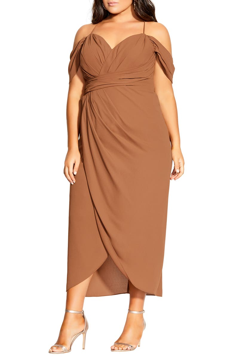 CITY CHIC Entwine Ruched Dress, Main, color, 205