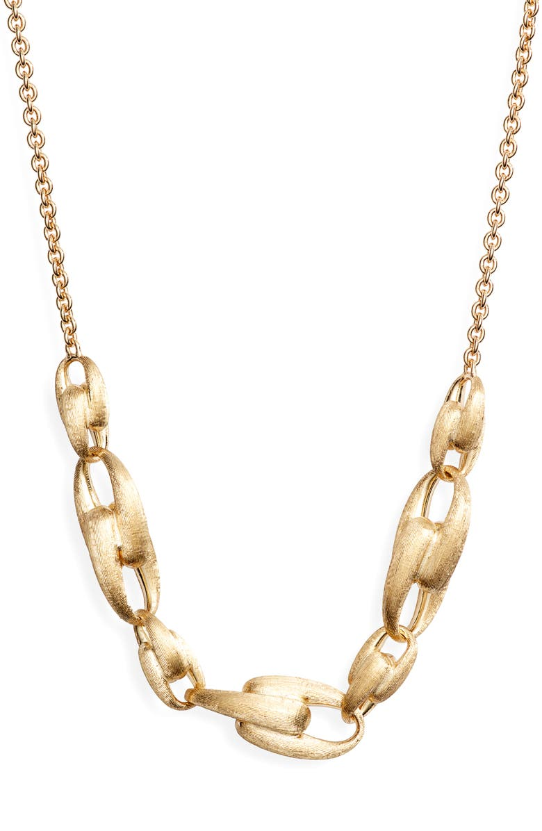 MARCO BICEGO Lucia Link Frontal Necklace, Main, color, YELLOW GOLD