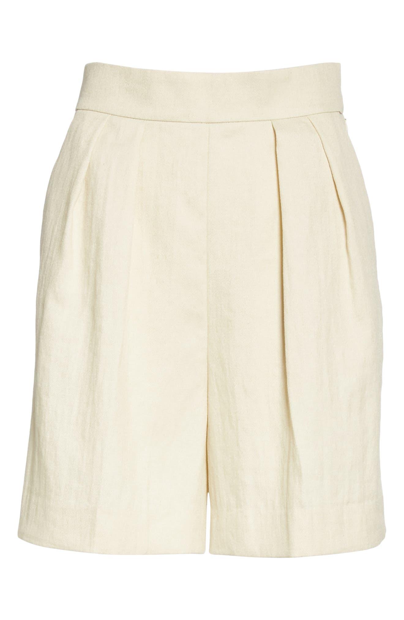 ,                             Pleated Shorts,                             Alternate thumbnail 6, color,                             250