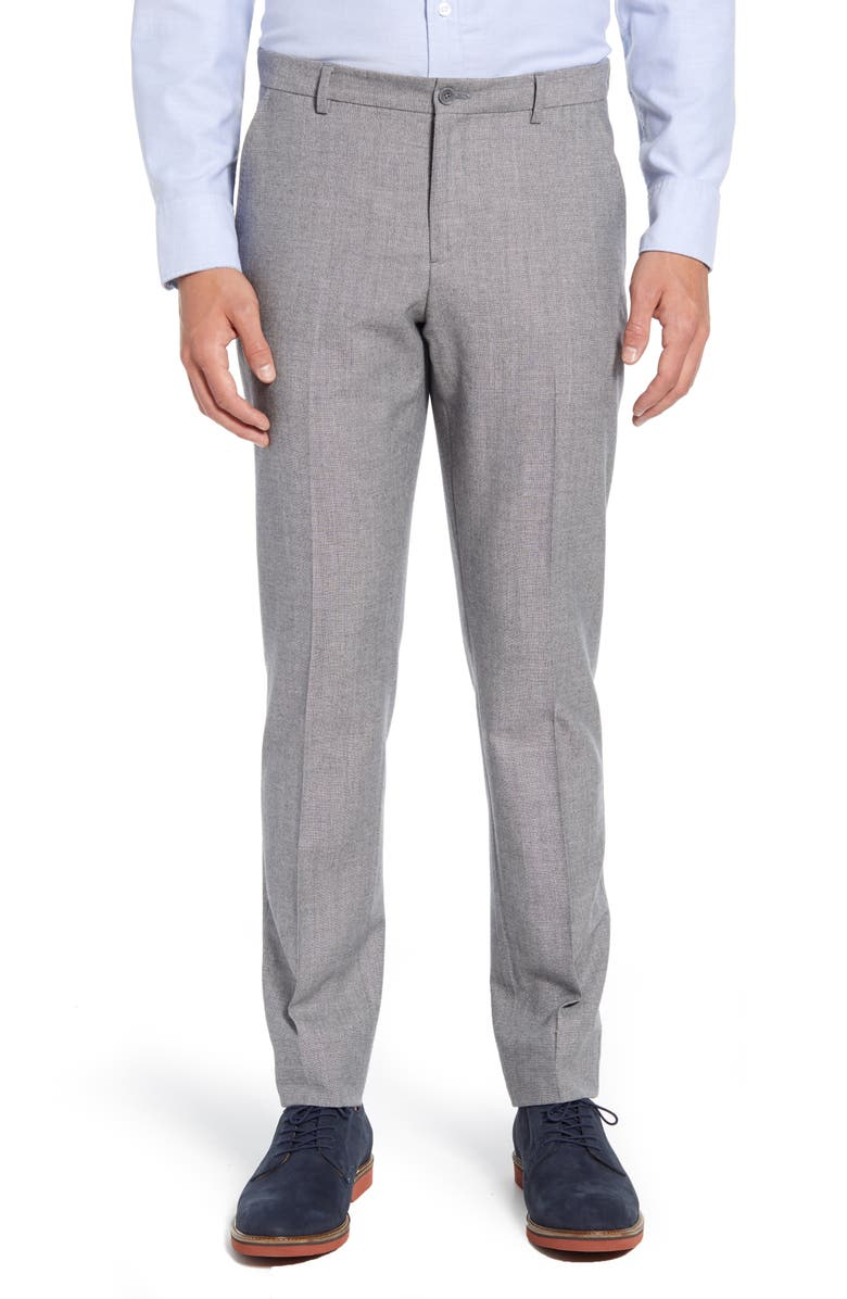 1901 Donegal Slim Fit Wool Blend Trousers, Main, color, GREY FILIGREE DONEGAL