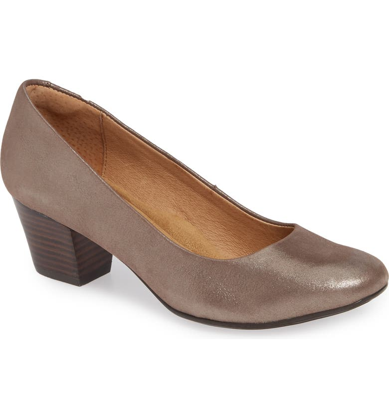 SÖFFT Lindon Pump, Main, color, METALLIC TAUPE SUEDE