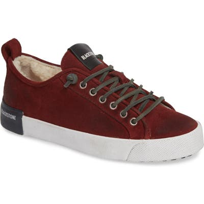 Blackstone Ql60 Genuine Shearling Lined Sneaker, Burgundy