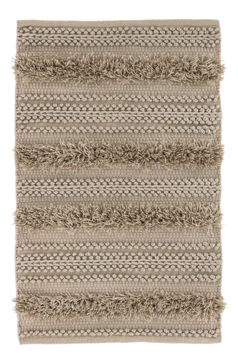 DASH & ALBERT Zhara Stripe Indoor/Outdoor Rug, Main, color, MOCHA