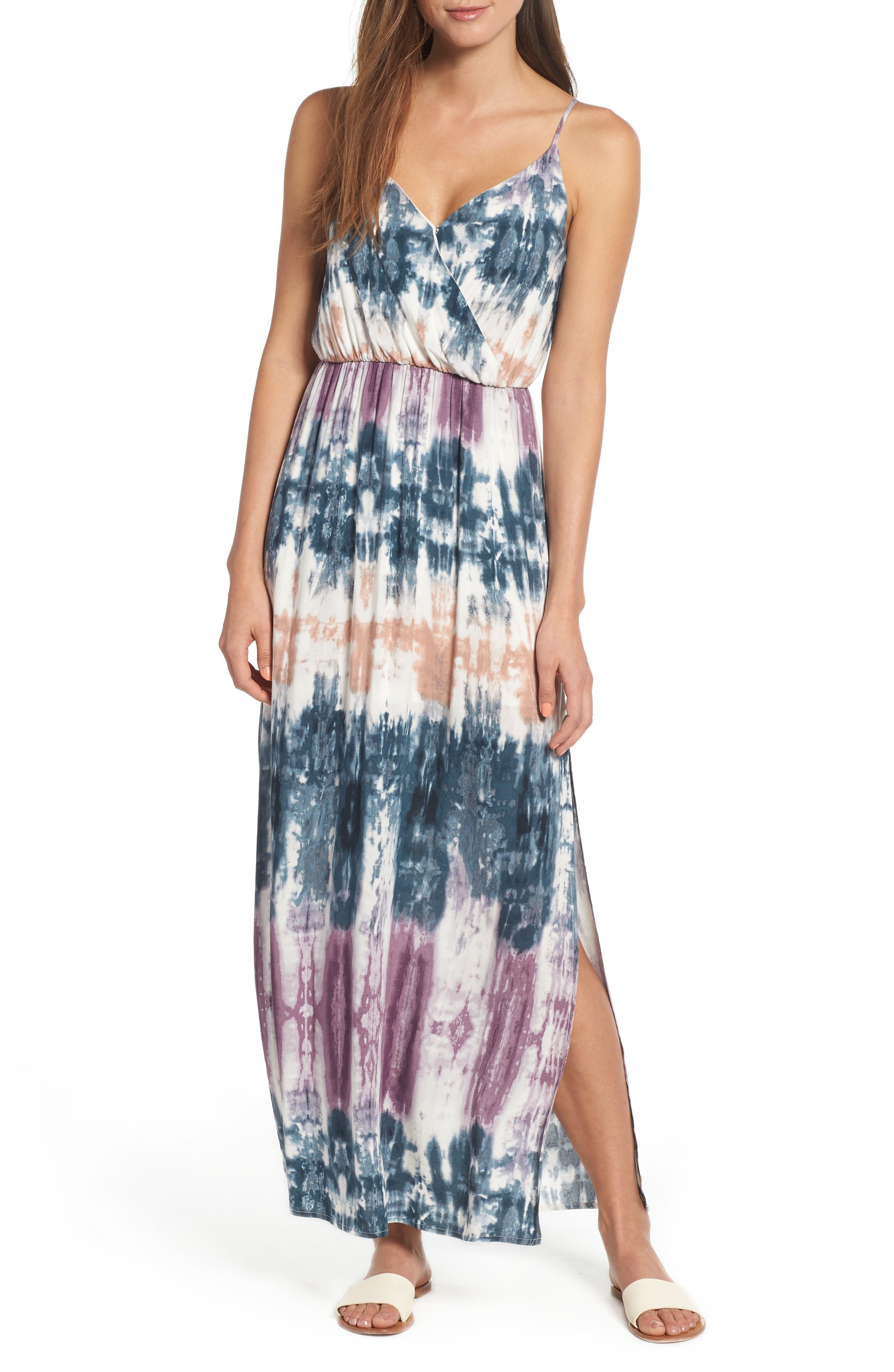 Beautiful tie dye maxi hi low dress sz medium