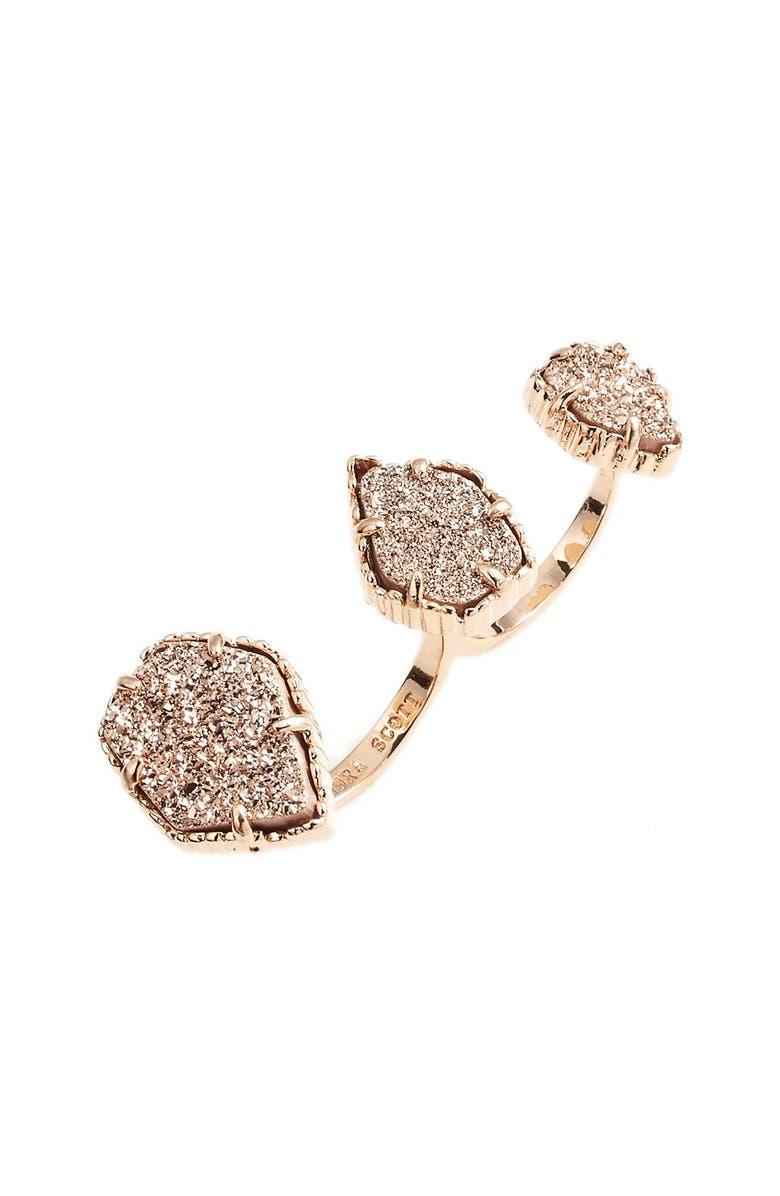 KENDRA SCOTT Naomi Double Finger Ring, Main, color, 650
