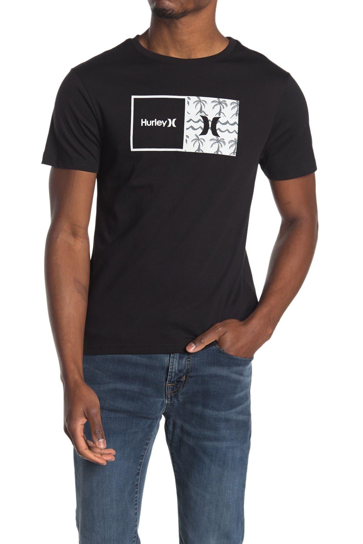 Image of Hurley Logo Print T-Shirt