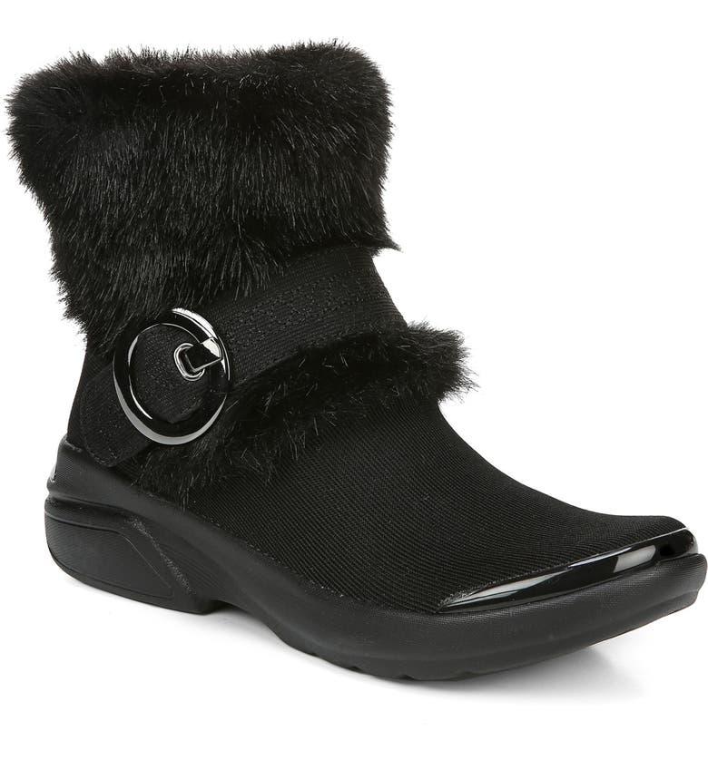 BZEES OoLaLa Faux Fur Bootie, Main, color, BLACK FABRIC