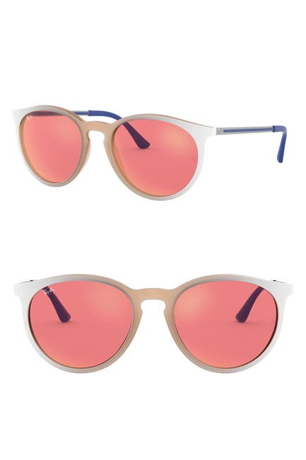 Image of Ray-Ban Phantos 53mm Round Sunglasses