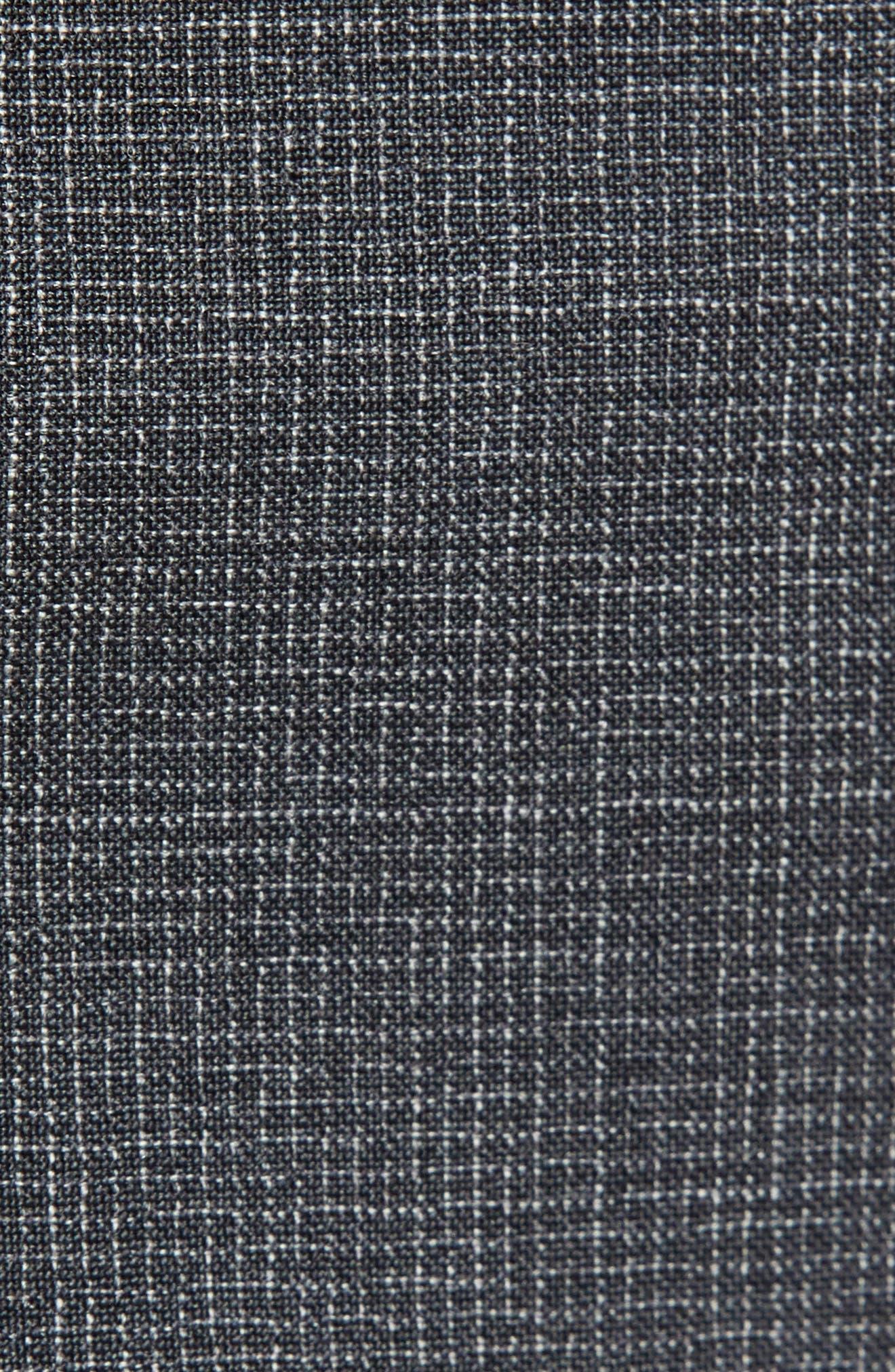 ,                             Cooper Five Pocket Check Wool Trousers,                             Alternate thumbnail 6, color,                             DARK GREY