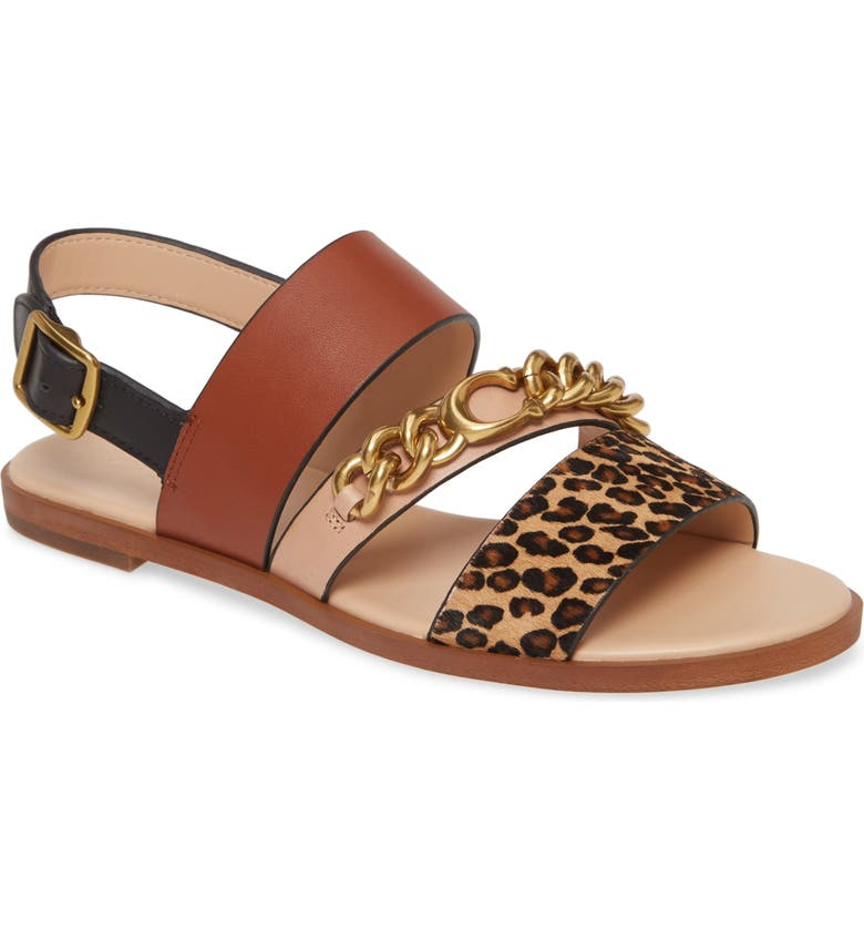 COACH Heather Slingback Sandal, Main, color, NATURAL MULTI CALF HAIR