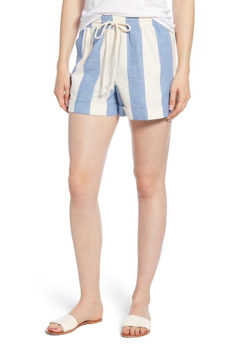 LOU & GREY Stripe Drawstring Shorts, Main, color, 400