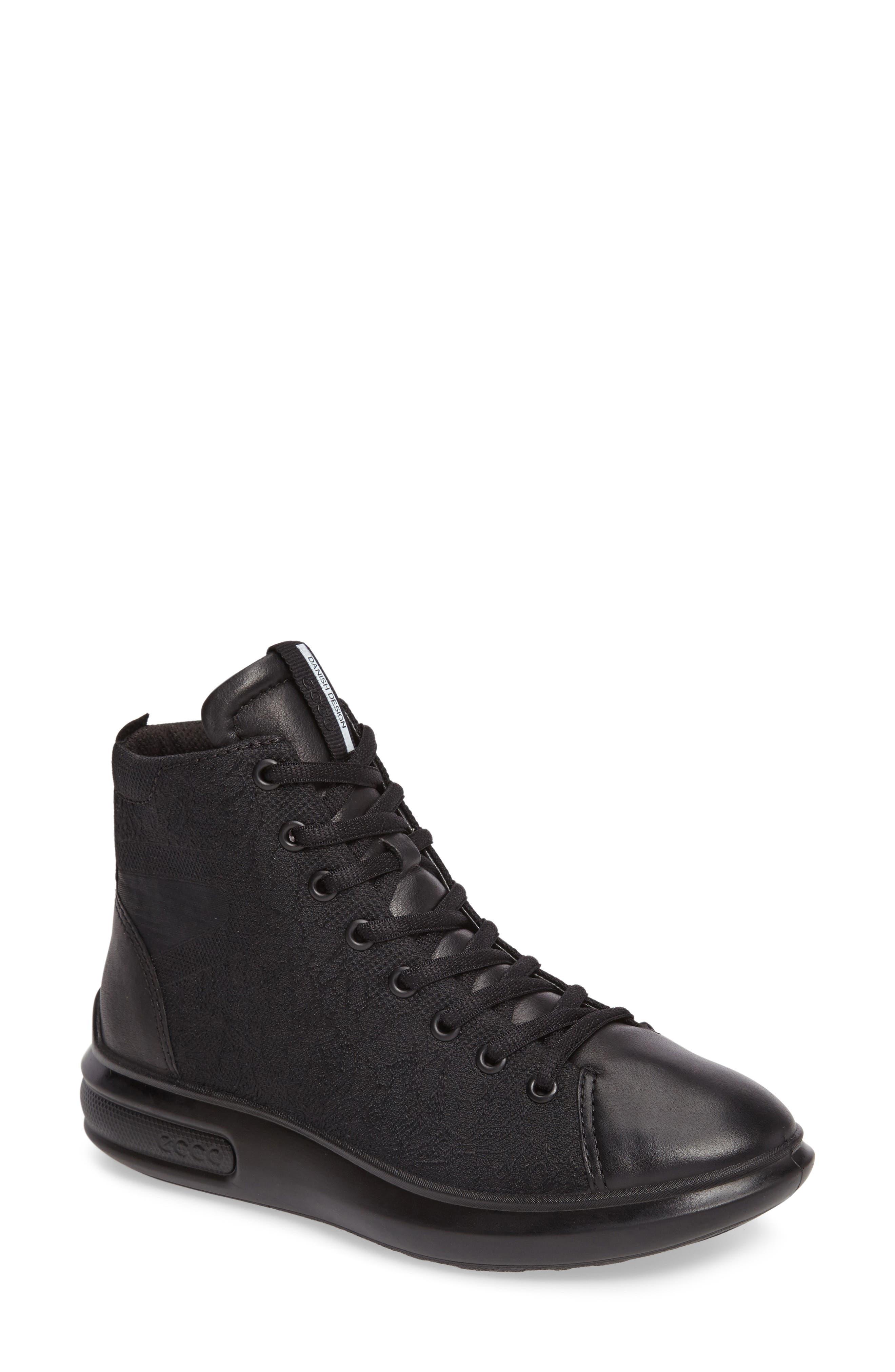 ECCO Soft 3 High Top Sneaker (Women