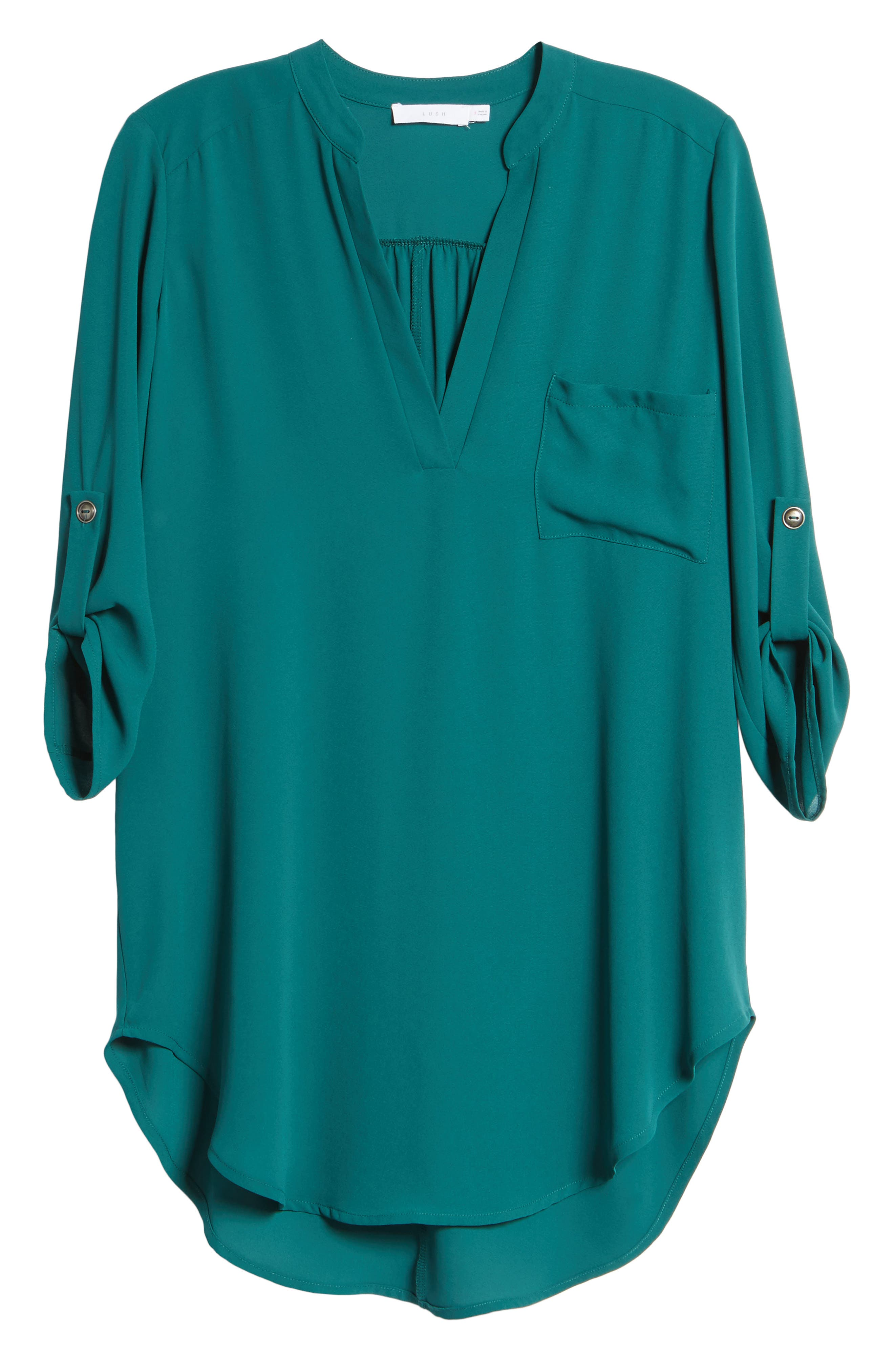 ,                             Perfect Roll Tab Sleeve Tunic,                             Alternate thumbnail 68, color,                             330