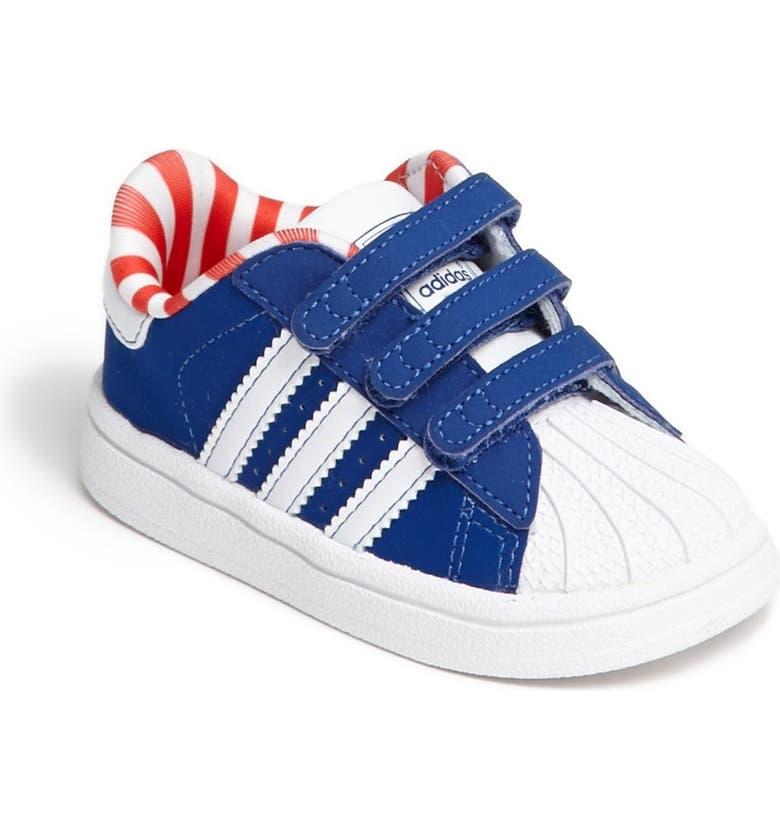 adidas 'Superstar 2' Sneaker (Baby, Walker & Toddler