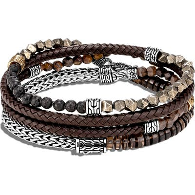 John Hardy Classic Chain Multi Wrap Leather Bracelet