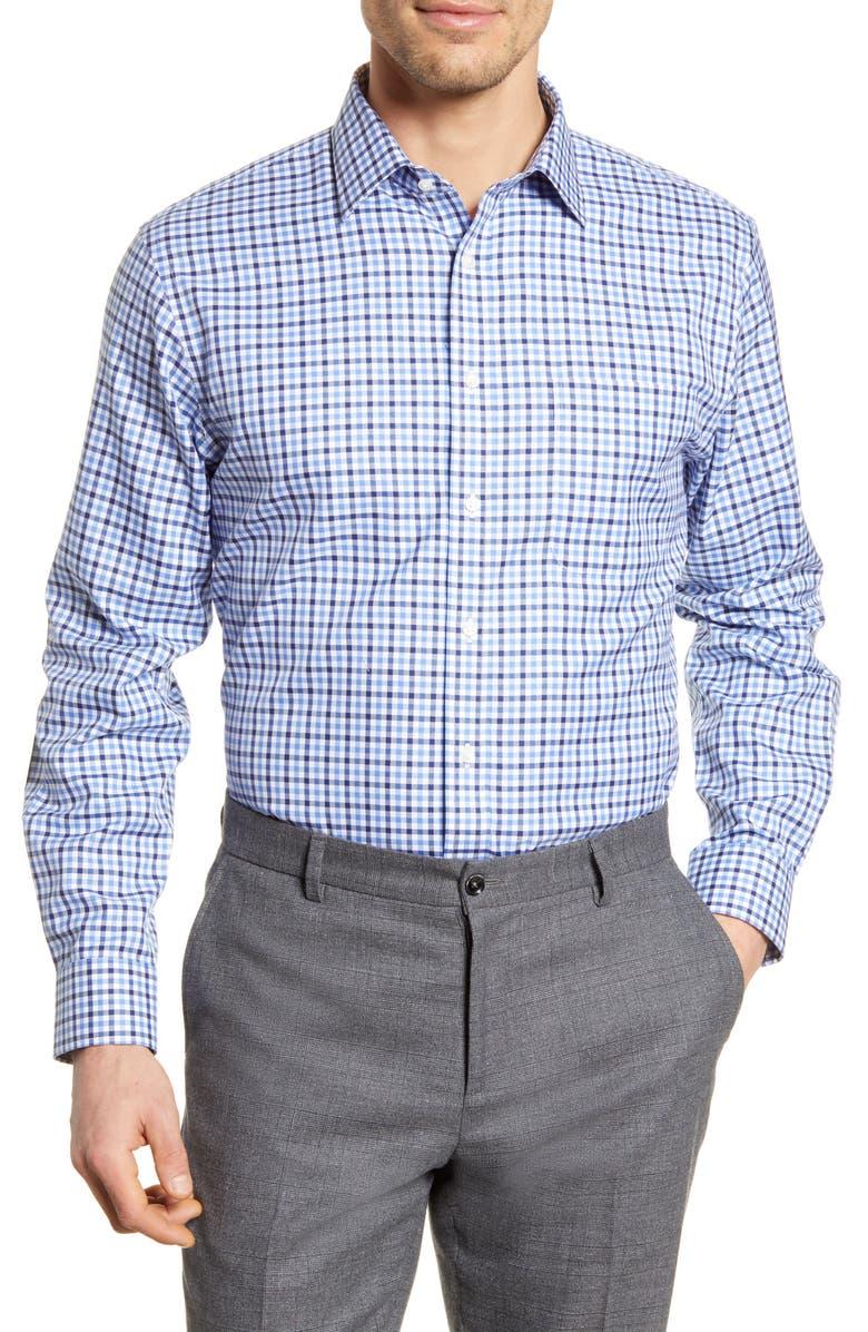 NORDSTROM MEN'S SHOP Smartcare<sup>™</sup> Traditional Fit Check Dress Shirt, Main, color, BLUE DEPTHS