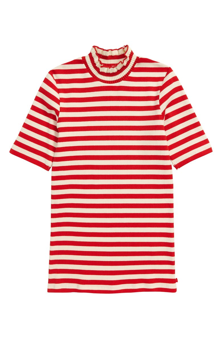 SCOTCH R'BELLE Stripe High Neck Tee, Main, color, RED