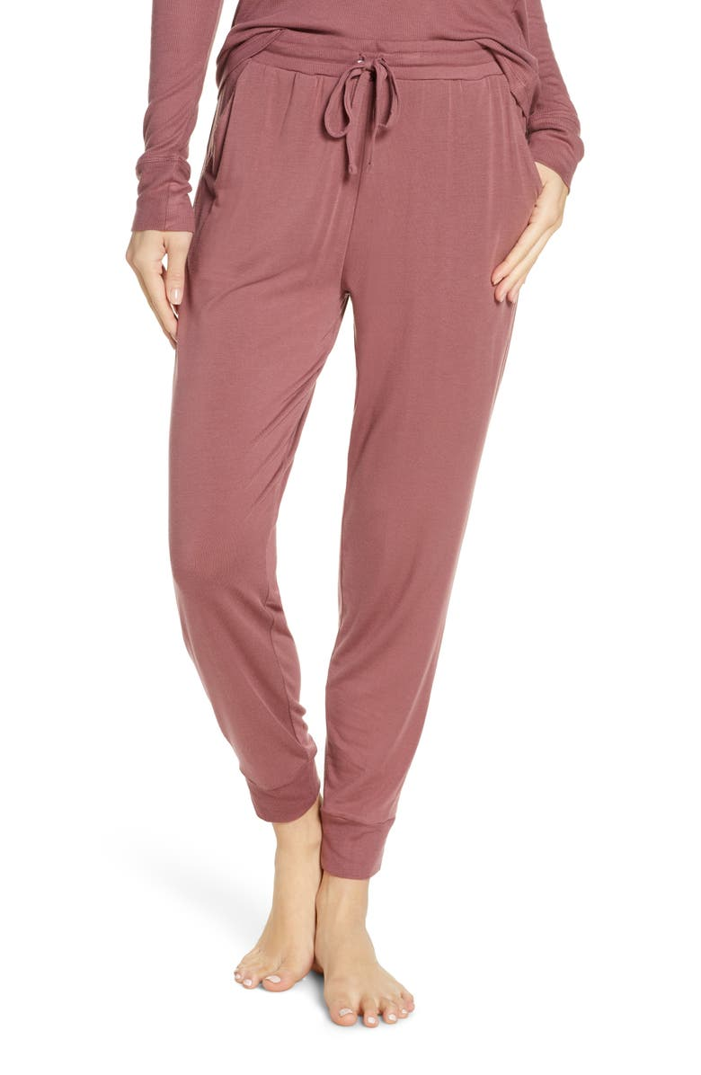 TOMMY JOHN Jogger Pants, Main, color, ROSE BROWN