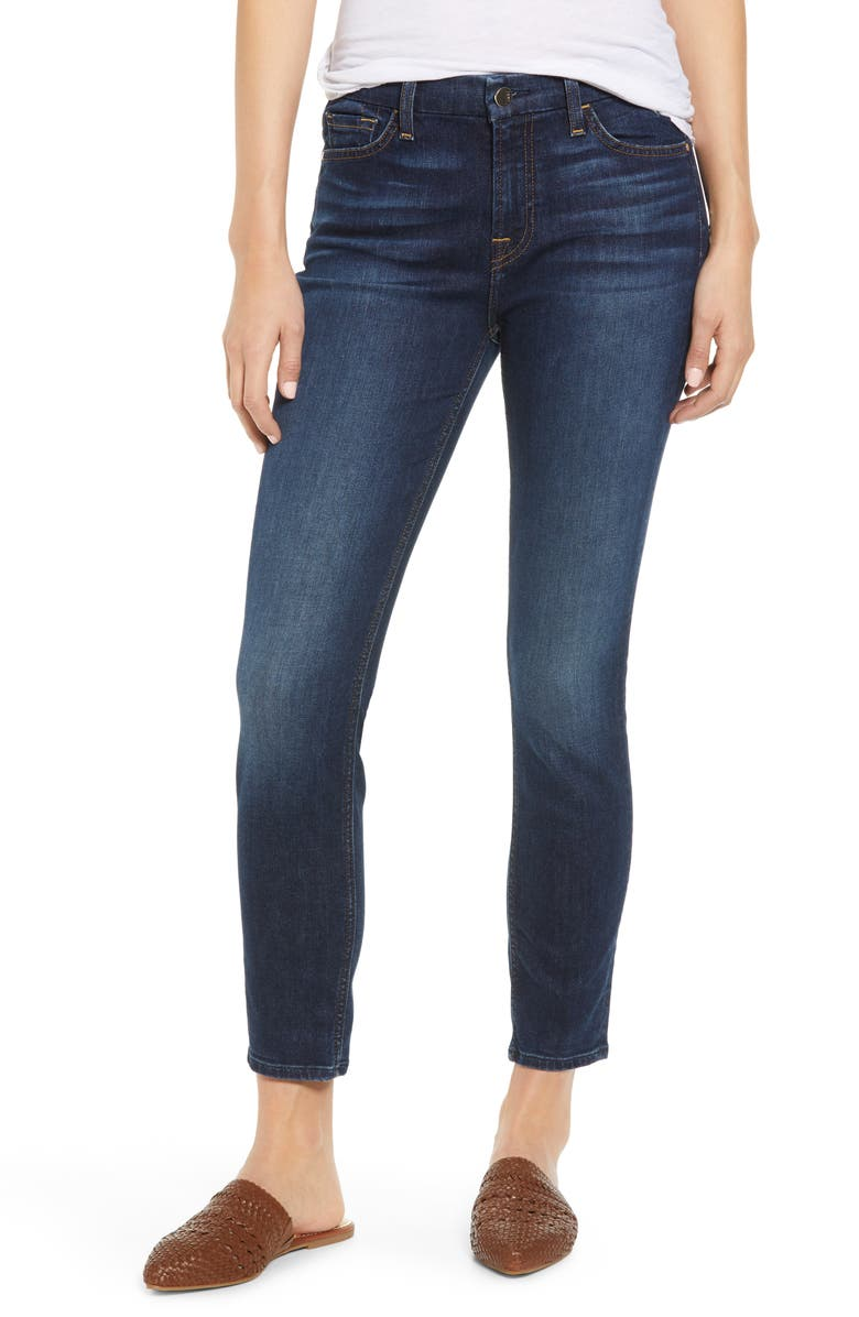 JEN7 By 7 For All Mankind High Waist Ankle Jeans Pretty Dark Hudson