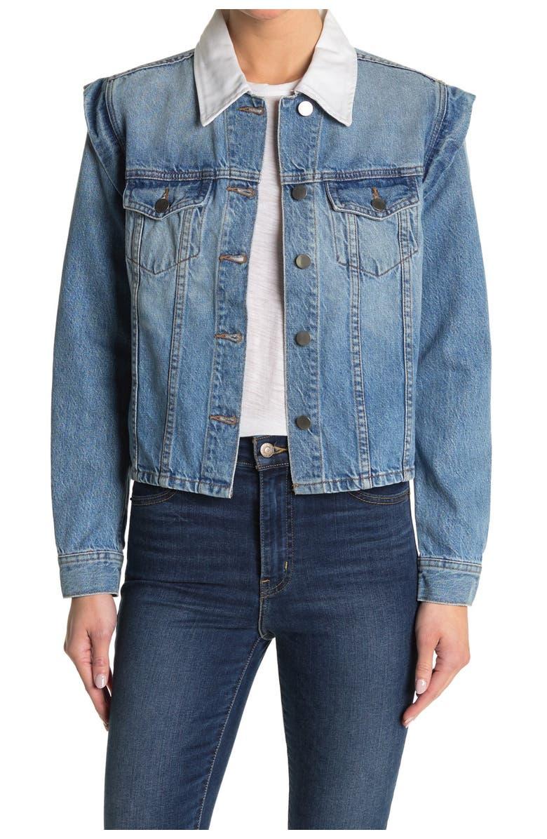 BLDWN Avery Contrast Collar Women's Denim Jacket