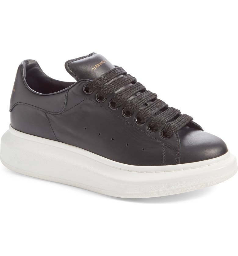 ALEXANDER MCQUEEN Sneaker, Main, color, BLACK/ BLACK LEATHER