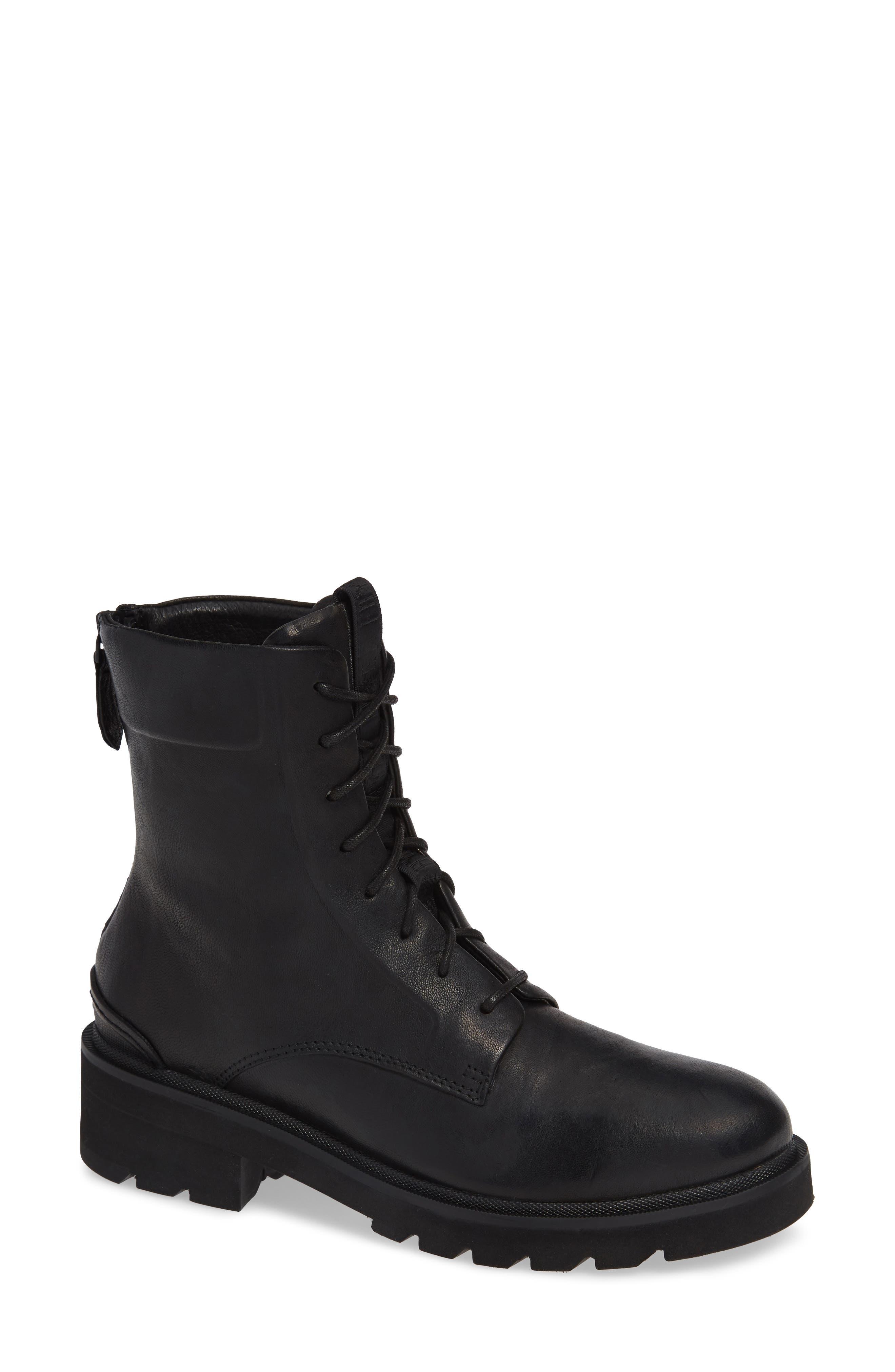 Frye Allison Combat Boot, Black